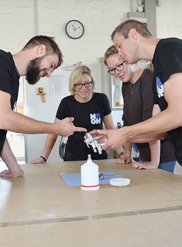 Schüler der Fachschule für Holztechnik & Gestaltung Hildesheim